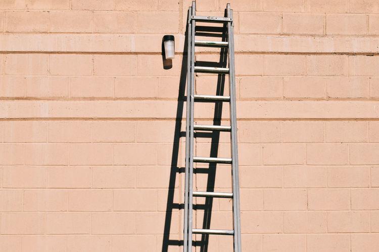 Ladder against wall