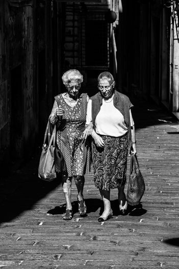 Casual Clothing Friends Friendsforever Front View Italian Ladies Old Ladies Oldfashioned Shopping The Street Photographer