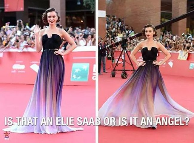This gorgeous dress ??? Lilycollins Beautiful