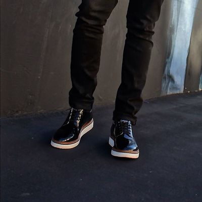 CA Style La California Startup Losangeles Cali Loafers Mensstyle Mensfashion Oxfords Tagsforlikes AllBlackEverything Theradblackkids Trbkcertified TRBKcollection Royalelastics Malemuse