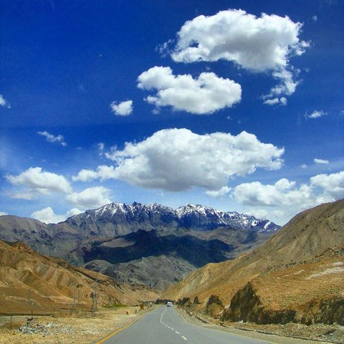 The Road that takes you vertically up the Shadow Mountain somewhere on our way to Ladakh Leh Roadtrip Mountains Hills Himalayas Jnk Cloudy Bluesky Clouds Travel India Indiatraveller Incredibleindia Indiapictures Lonelyplanetindia Lonelyplanet Nature
