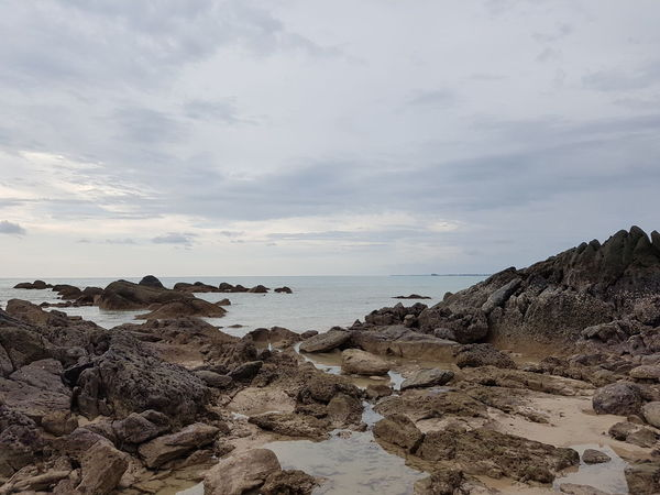 Beach Beachphotography Check This Out Sand Sea Sea And Sky Peace And Quiet Rock Evening Water Horizon Over Water Horizon