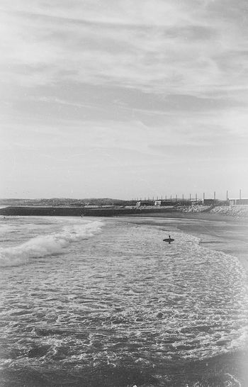 Blackandwhite Film Emulation Surfing September Portugal Happiness Seascape Film Photography EyeEm Best Shots Water Sea Land Sky Beach Day Nature Scenics - Nature Tranquil Scene Tranquility Beauty In Nature Outdoors Non-urban Scene
