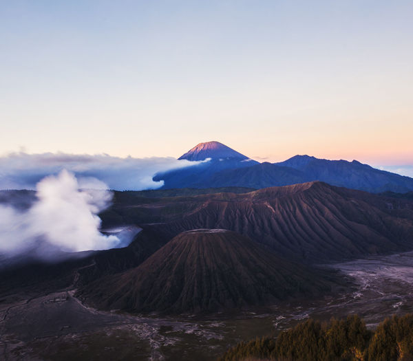 The Bromo Mountain in sunrise Active Volcano Beauty In Nature Bromo Mountain Indonesia Day Erupting Geology Landscape Mountain Nature Nature No People Outdoors Physical Geography Scenics Sky Sunrise Sunset Tranquil Scene Tranquility Travel Destinations Volcanic Crater Volcanic Landscape Volcano