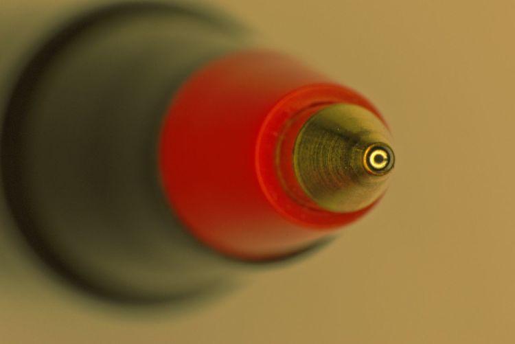 Close-up of ballpoint pen
