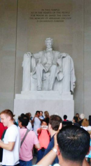 Washington, D. C. Capital City Lincoln Memorial Marble People United States National Memorial