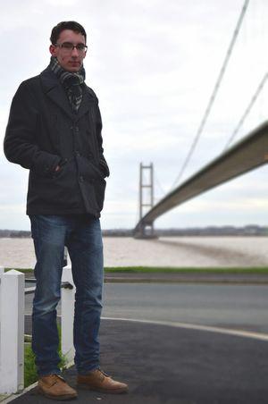 Humber Bridge Hull East Yorkshire Man Bridge River Portrait City Of Culture 2017 Hull 2017