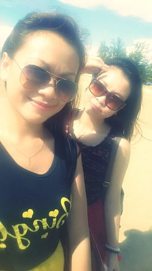 Because I'm on Holiday !! Live, Love, Laugh with my sis & yeah.. we did some Wefie !!