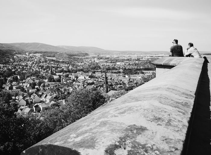 Schloss Werningerode Wernigerode Clear Sky Men Tranquility Day Sky Person Outdoors Tranquil Scene Mountain Scenics Remote Horizon Beauty In Nature Bird's Eye View Bnw A Bird's Eye View Blackandwhite Panorama Bw_collection Monochrome Photography People And Places Long Goodbye Neighborhood Map Live For The Story