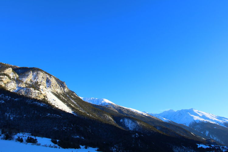 Tree Winter Blue Sky Glaciers Hood Mountain Snow Sun Vanoise