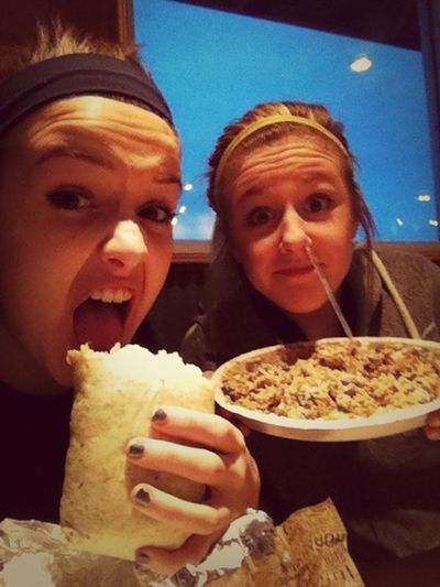 Chipotle Before Practice !