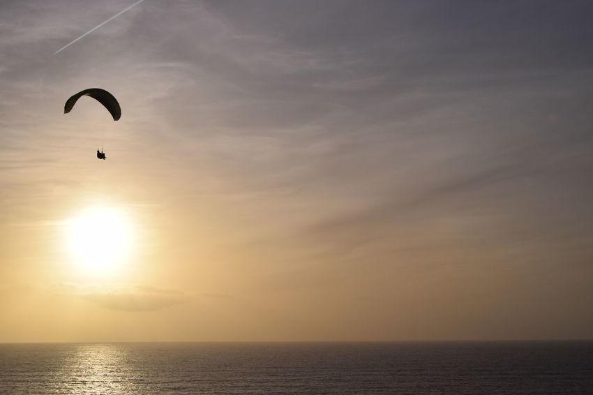 2 Worlds Met Extreme Sports Flying Freedom Horizon Sky Sport Sunset EyeEmNewHere A New Beginning