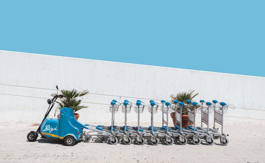No baggage, No problem Airport Asymmetry Blue Italy Luggage Minimalism Minimalist Palermo Sicily Sky Travel