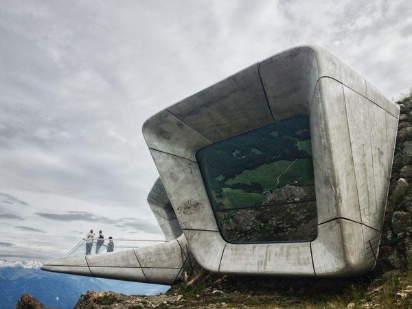 Italy, Alto Adige, Plan de Corones, Messner Museum Outdoors Day Sky Travel Destinations Südtirol Altoadige Mountain Landscape Mountain Range Built Structure Architektur Architectural Design