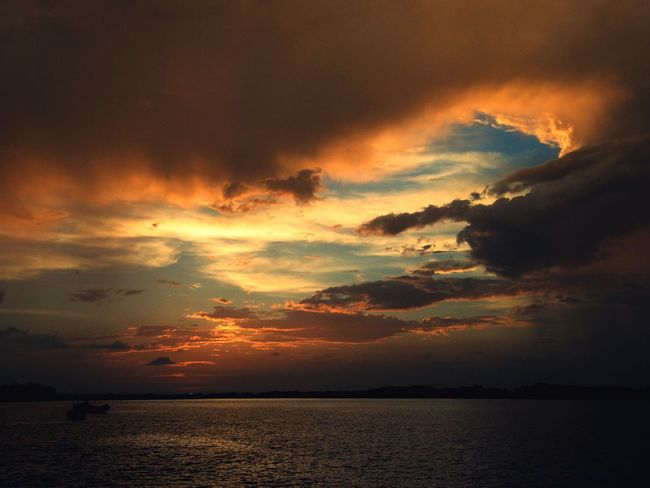 This is Nature Colors Bissau Africa African Beauty African Safari Nature Photography Nature_collection African Bolama Sea And Sky Life Sunset Sunset Dramatic Sky Cloud - Sky Orange Color Sea Nature Water Scenics No People Tranquility Outdoors Travel Destinations