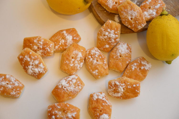 lemon cookies biscotti al limone Healthy Eating Food Food And Drink Healthy Lifestyle Directly Above No People Freshness Homemade Indoors  Close-up Ready-to-eat