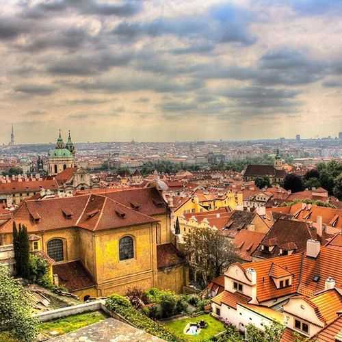 The beautiful city of Prague Eurodiary Euro Throwback Beautiful easterneurope praha awesome prague ancient historical architecture old oldtown ariel instapraha