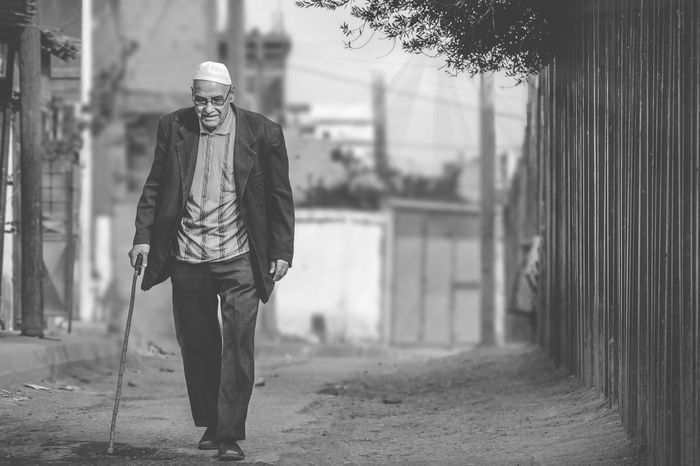 old man Streetphotography Street Blackandwhite Photooftheday Adorable Looking Happy Happy People Happy Old Man Walking Walking In The Street Alone Real People Day Outdoors Men Males  Lifestyles