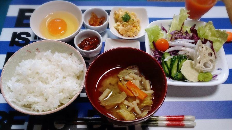 朝ごはん☆ Japanese Food Yummy Healthy Food Food Porn Breakfast Tkg