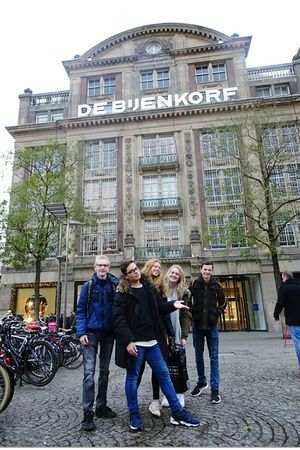 Amsterdam Amsterdamcity City 3XSPUnity SchoolWork Blond Hair Friends Outside Holland Variation Thenetherlands Building Exterior Built Structure People Day Architecture Togetherness Adults Only Outdoors Adult