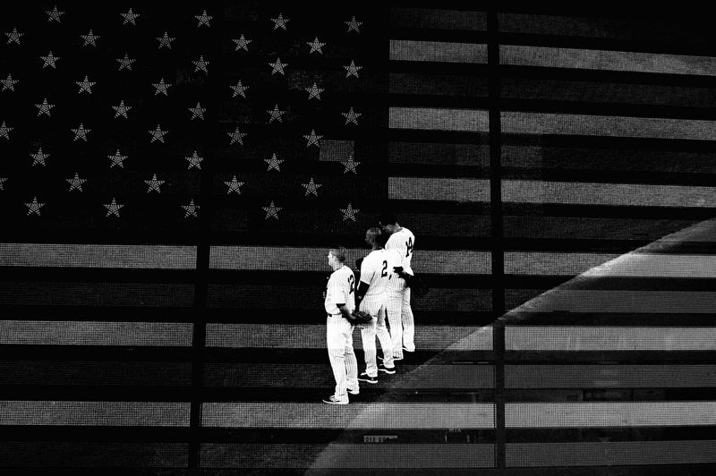 Portrait Of America American Flag NYC Photography Open Edit Blackandwhite Photography Yankees Blackandwhite NYC