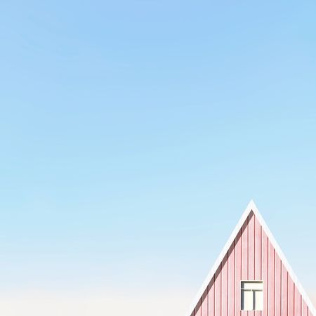 """""""Hi,"""" said the sky. Minimal Minimalist Minimalism Minimalist Architecture Minimalistic Minimalmood EyeEm Best Shots EyeEmNewHere EyeEm Gallery Pink Simplicity Lessismore Clear Sky Blue Copy Space Sky Architecture Building Exterior Built Structure High Section Roof Tile Sky Only Rooftop Roof Housing Settlement TOWNSCAPE Beach Hut Tiled Roof  Eaves Contrail The Architect - 2018 EyeEm Awards"""