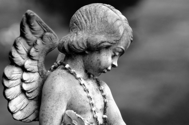 Found in an old cemetery in Washington State USA Cherub Cherub Statue Close-up Day Focus On Foreground No People Outdoors Sculpture Statue