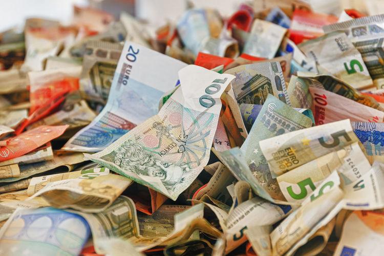 Detail shot of banknotes