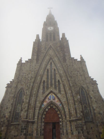 Arch Architecture Brazil Church Fog Gramado Low Angle View Religion