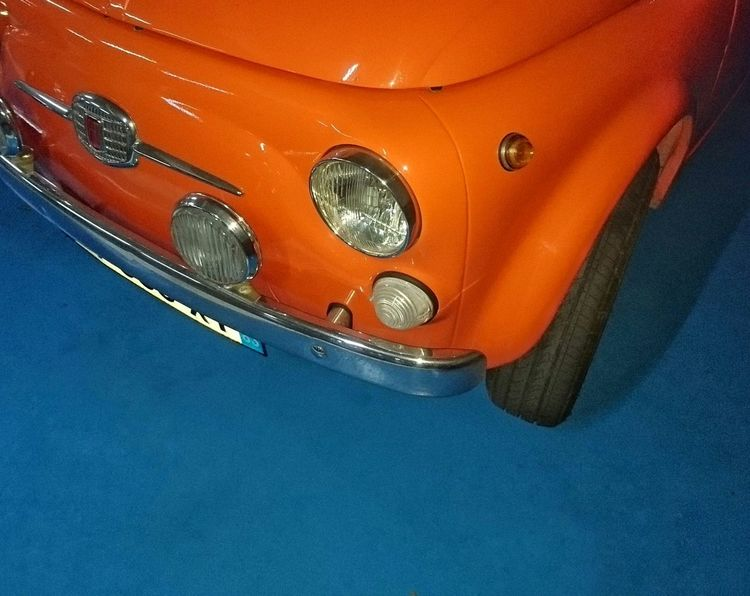 Orange Orange Orange Color Contrast Blue Additional Colors Blue Color Parking Cars Tyre Chrome Calender Reflection Stationary