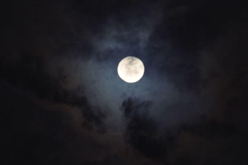 Moon Astronomy Sky Low Angle View Night Scenics Idyllic Moon Surface