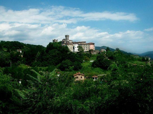 Ghivizzano Italy Tuscany Architecture Trees Garden Panorama