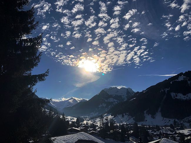 Altocumulus Bolonie Style Blue Sky Snow Pretty Bolonie Art Bolonie I❤️Gstaad Mountain Snow Nature Winter Beauty In Nature Cold Temperature Sunlight Outdoors Tranquility Day Mountain Range Tranquil Scene No People Sky Tree Scenics EyeEmNewHere EyeEmNewHere Shades Of Winter