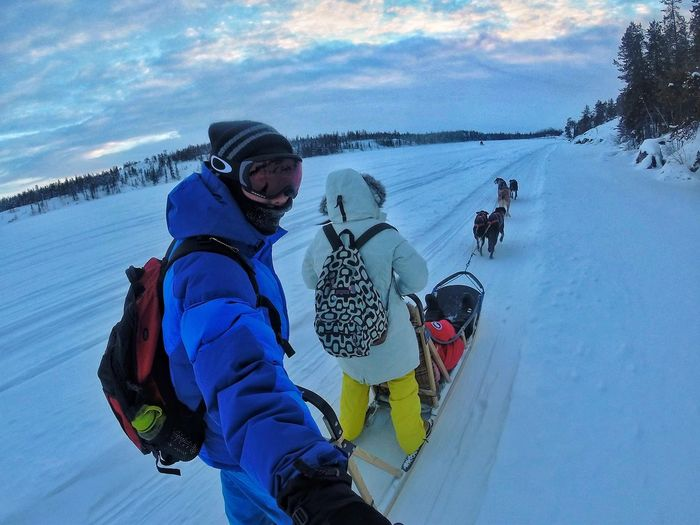 Winter Trip in Yellowknife Yellowknife Gopro Dog Sledge Sport Activity Leisure Activity Young Adult Winter Sport Vacations Motion Outdoors