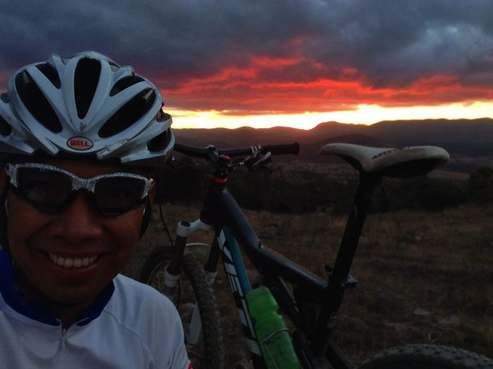 Epic ride followed by an epic sunset.
