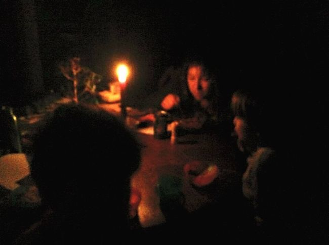 The power went out....such a wonderful moment by candlelight. Candlelight Power Outage Kids Hanging Out Family Check This Out IPhoneography