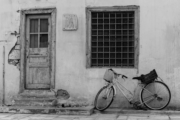 abandonment.. Abandoned Abandoned Buildings Abandoned Home Abandoned House Abandonedbuilding Abandonment Architecture Bicycle Bicycles Building Exterior Built Structure Day Door Nafplio No People Outdoors Stationary Window Welcome To Black