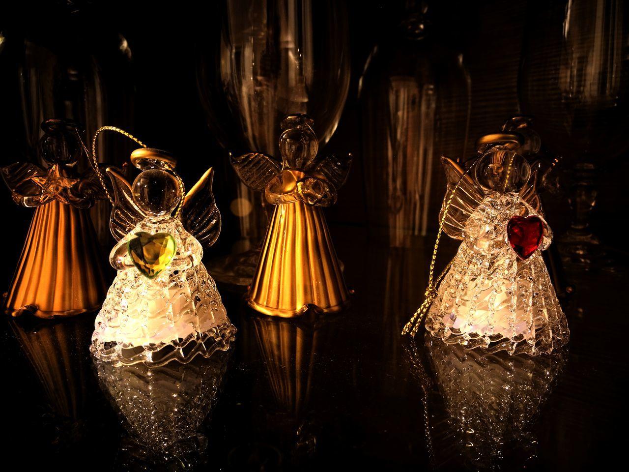 night, celebration, illuminated, indoors, hanging, no people, christmas decoration, close-up