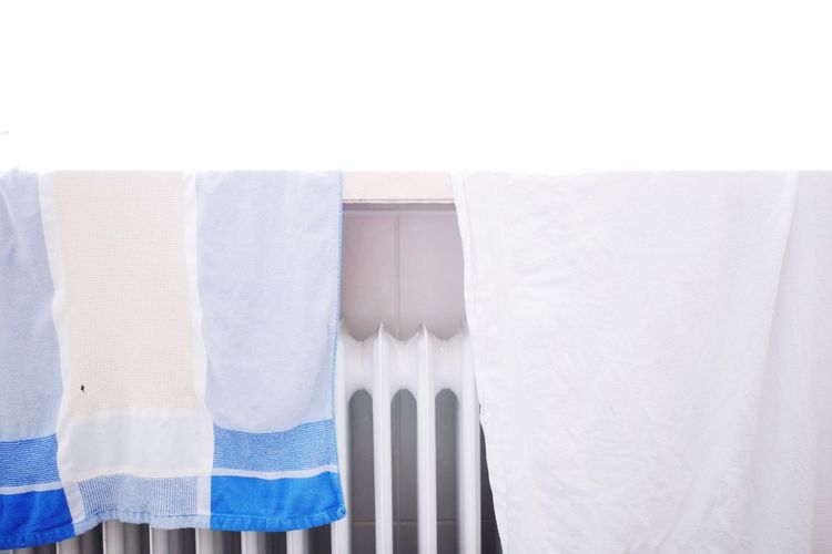 IT IS ALL ABOUT BLUE.... White Color No People White Background Close-up Cleaning Tools Blue Bathroom Heater