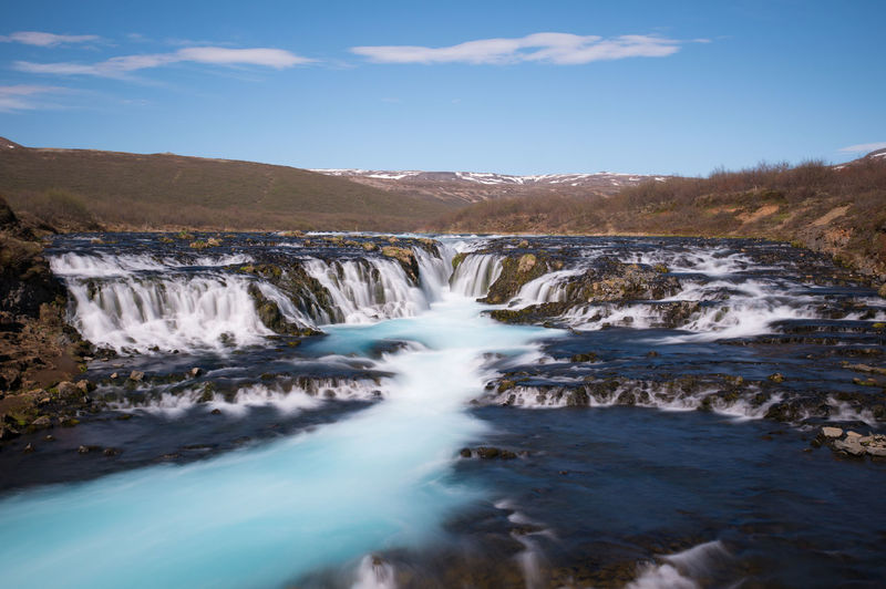 Iceland Iceland Memories Beauty In Nature Blurred Motion Bruarfoss Day Iceland Trip Iceland_collection Landscape Long Exposure Motion Mountain Nature No People Outdoors Scenics Sky Tranquil Scene Tranquility Tree Water Waterfall