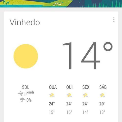 Calorzinho de brejo de sempre ! :3 TaComeçando Instagram Clima ClimaTempo tempoBom. *-*