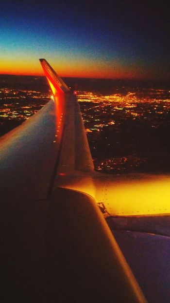 Flying southwest over atlanta GA From An Airplane Window Atlanta Ga Flight ✈ Southwest Airlines