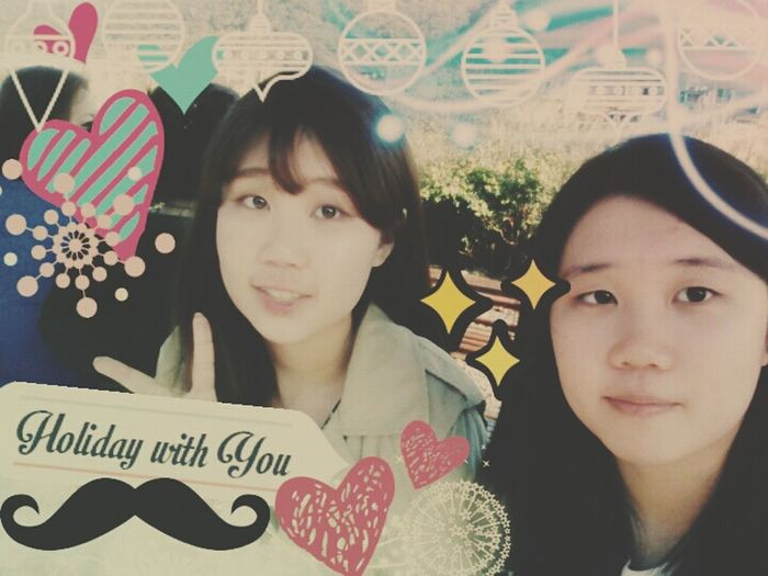 adorable my sis and me O:-) we are spent a time in lovely Taipei, 140128