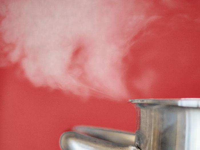 A steaming pot
