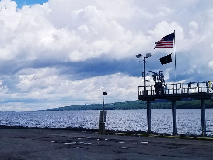 Flag Industrial Landscapes Finger Lakes Of Western New York Lake