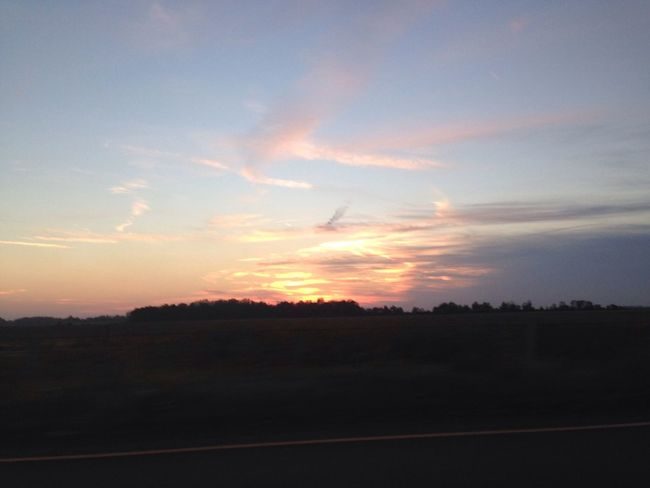 Sunset No Edit/no Filter Drive Home Taking Photos
