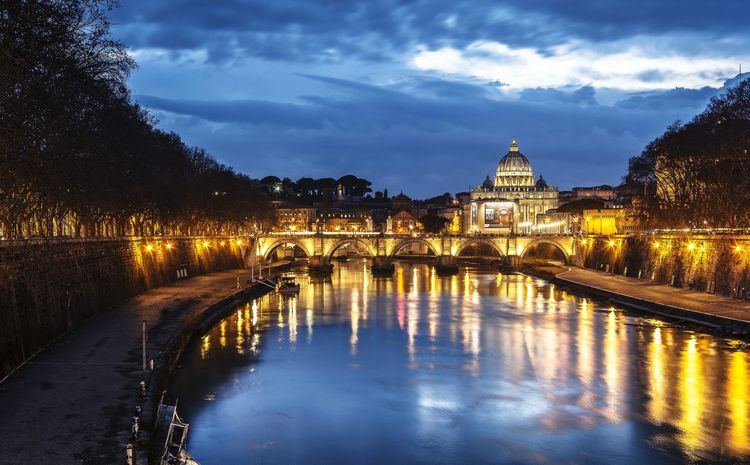 Just Rome Reflection Sunset Architecture City Sky River Cityscape History Outdoors No People Landscape Clouds Rome Night Light Water Nature Bridge - Man Made Structure Dusk Built Structure Travel Destinations Connection Cloud - Sky Scenics Illuminated