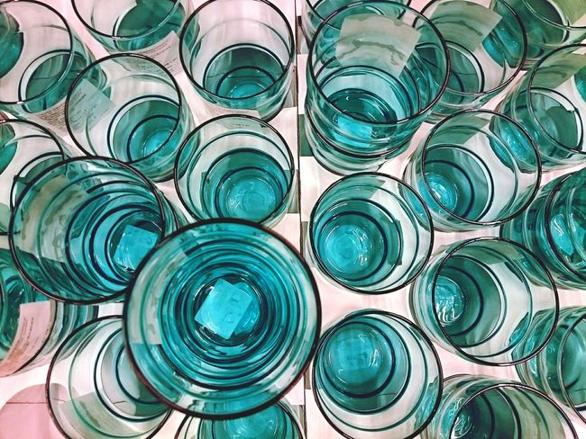 Turquoise By Motorola Turquoise Glassware Glass Glasses Topdown Everything In Its Place