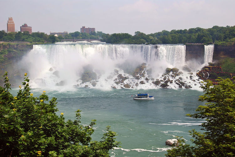 Waterfall with lake in foreground
