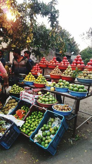 Fresh Fruit Variation Choice Fruit Abundance Freshness Vegetable Healthy Eating Outdoors Multi Colored Market Day Nasik India WhileIAmOnMove EyeEmNewHere